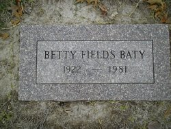 Betty <i>Fields</i> Baty