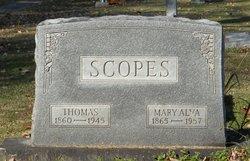 Mary Alva Scopes