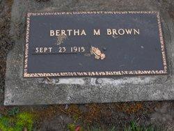 Bertha M <i>Gerould</i> Brown