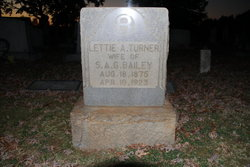 Lettie A. <i>Turner</i> Bailey