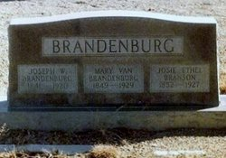 Mary Van <i>Branson</i> Brandenburg