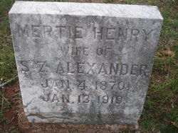 Mertie Henry Alexander
