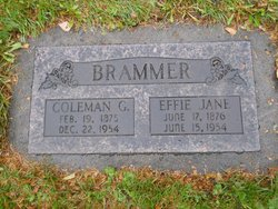 Effie Jane <i>Sites</i> Brammer