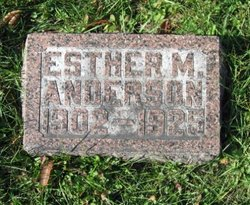 Esther M <i>Staley</i> Anderson