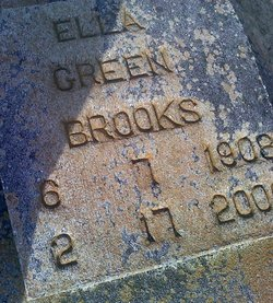 Ella H <i>Green</i> Brooks