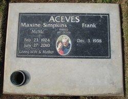 Maxine MeMe <i>Simpkins</i> Aceves
