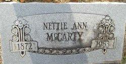 Nettie Ann <i>Reid</i> McCarty