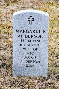 Margaret <i>Burrell</i> Anderson