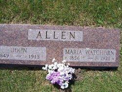 Ann Maria <i>Watchorn</i> Allen