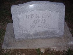 Lois Maxine <i>Dean</i> Boman