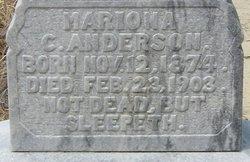 Mariona C <i>Zeigler</i> Anderson