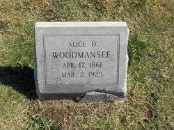 Alice D Woodmansee