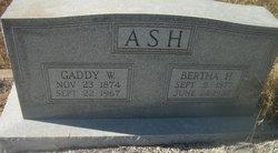 Gaddy W Ash