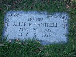 Alice Cynthia <i>Keeling</i> Cantrell