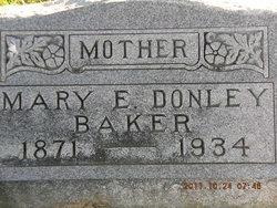Mary E <i>Donley</i> Baker