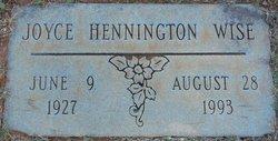 Joyce <i>Hennington</i> Wise
