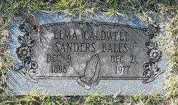 Elma Caldwell <i>Sanders</i> Bales