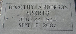 Dorothy Lee <i>Waters Anderson</i> Sports