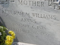 Keturah M <i>Williams</i> Akins