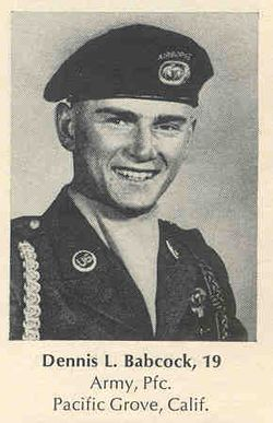 Pvt Dennis Lee Babcock