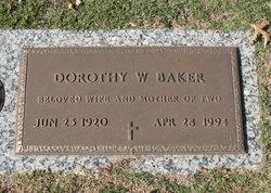 Dorothy W <i>Williamson</i> Baker