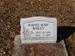 Burnice <i>Busby</i> Bailey