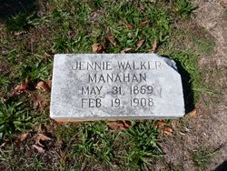 Jennie <i>Walker</i> Manahan