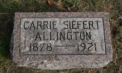 Carrie <i>Siefert</i> Allington