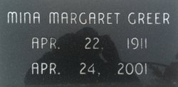Mina Margaret <i>Davis</i> Greer