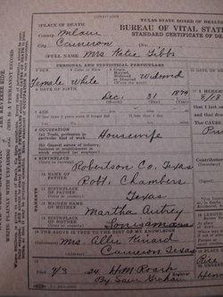 Mary Catherine <i>Chambers</i> Gibbs