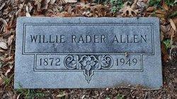 Willie Rader Allen