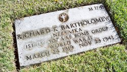 1Lt Richard K Bartholomew