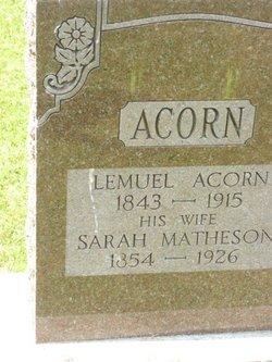 Sarah <i>Matheson</i> Acorn