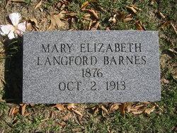 Mary Elizabeth <i>Langford</i> Barnes