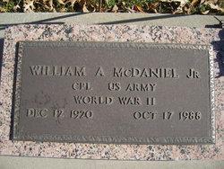 William A McDaniel, Jr