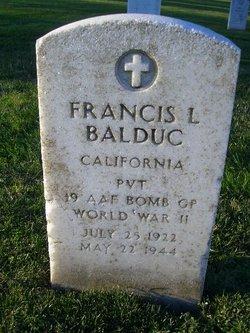 Pvt Francis L Balduc