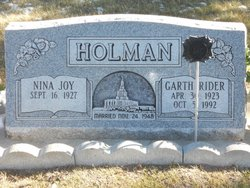 Garth Rider Holman