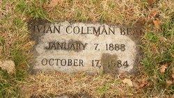 Vivian <i>Coleman</i> Bear