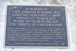 Capt Ephraim M. Blaine