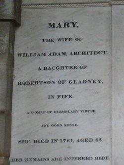 Mary <i>Robertson</i> Adam