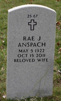 Rae J. Betty <i>Hicks</i> Anspach