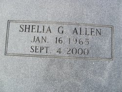 Shelia G Allen