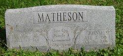 Joanne Juanita <i>Staten</i> Matheson