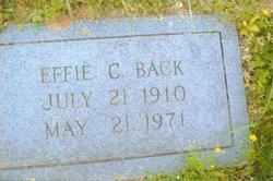 Effie <i>Collins</i> Back