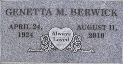 Genetta Mae <i>Boatman</i> Berwick