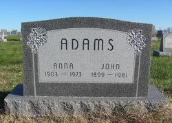 Anna Emma <i>Reich</i> Adams