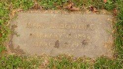 Mary L <i>Grove</i> Bowling