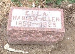 Margaret Ella Hadden <i>Pruden</i> Allen