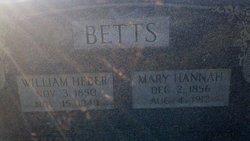 Mary Hannah <i>Roberson</i> Betts