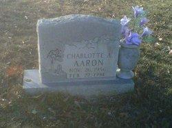 Charlotte Ann <i>Ethridge</i> Aaron